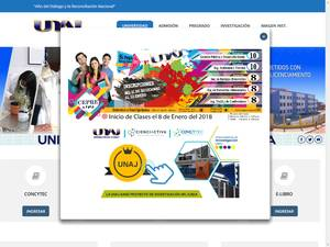 Universidad Nacional de Juliaca's Website Screenshot