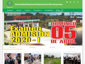 Universidad Nacional Autónoma de Alto Amazonas's Website Screenshot
