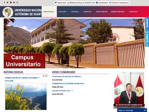 Universidad Nacional Autónoma de Huanta's Website Screenshot