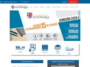 Universidad Autónoma de Ica's Website Screenshot
