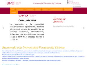 Universidad Peruana del Oriente's Website Screenshot