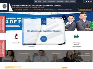 Universidad Peruana de Integración Global's Website Screenshot