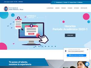 Universidad Jaime Bausate y Meza's Website Screenshot