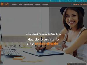 Universidad Peruana de Arte Orval's Website Screenshot