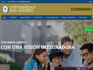 Universidad San Andrés's Website Screenshot