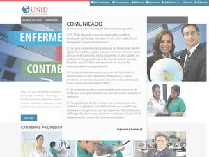 Universidad Interamericana para el Desarrollo, Peru's Website Screenshot