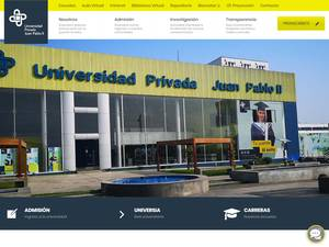 Universidad Privada Juan Pablo II's Website Screenshot