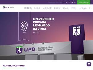 Universidad Privada Leonardo Da Vinci's Website Screenshot