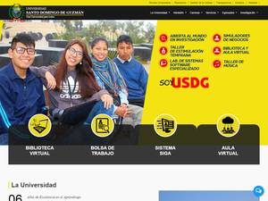 University of Santo Domingo de Guzmán Screenshot
