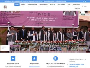 Abbottabad University of Science and Technology's Website Screenshot