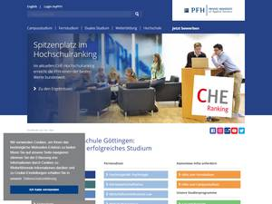 Private Hochschule Göttingen Screenshot