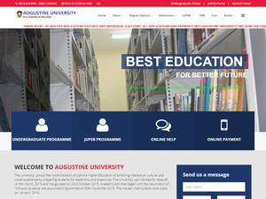 Augustine University's Website Screenshot
