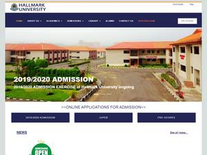 Hallmark University, Ijebu-Itele's Website Screenshot