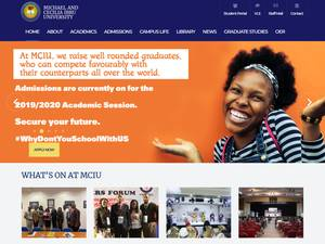 Michael and Cecilia Ibru University's Website Screenshot