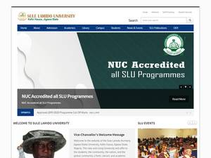 Sule Lamido University's Website Screenshot