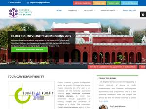 Cluster University of Jammu's Website Screenshot