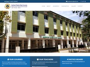 Jharkhand Raksha Shakti University's Website Screenshot