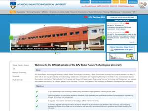 APJ Abdul Kalam Technological University's Website Screenshot