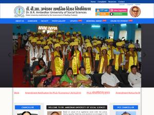 Dr. B.R. Ambedkar University of Social Sciences's Website Screenshot