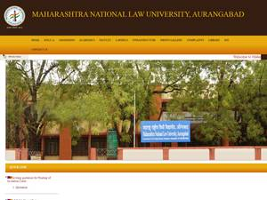 Maharashtra National Law University, Aurangabad Screenshot