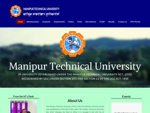 Manipur Technical University's Website Screenshot