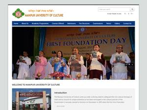 Manipur University of Culture's Website Screenshot