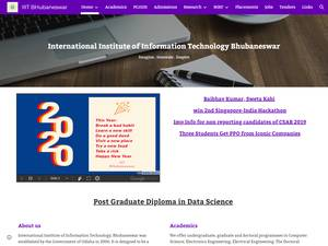 International Institute of Information Technology, Bhubaneswar's Website Screenshot