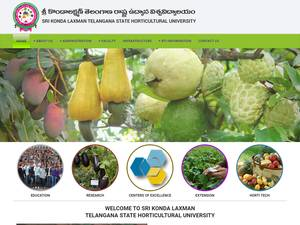 Sri Konda Laxman Telangana State Horticultural University's Website Screenshot