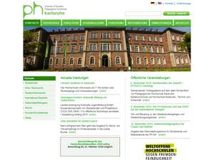 University of Education, Karlsruhe Screenshot