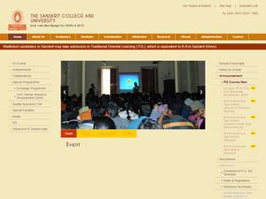 The Sanskrit College and University's Website Screenshot