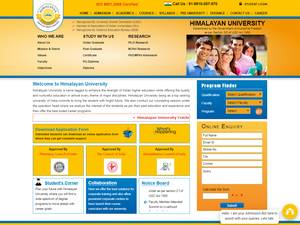 Himalayan University's Website Screenshot