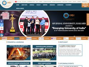 O.P. Jindal University's Website Screenshot