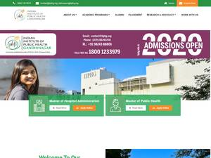 Indian Institute of Public Health's Website Screenshot