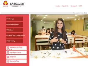 Karnavati University's Website Screenshot