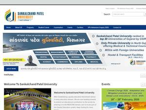 Sankalchand Patel University's Website Screenshot