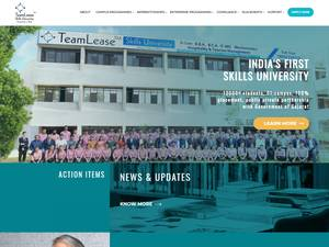 TeamLease Skills University's Website Screenshot