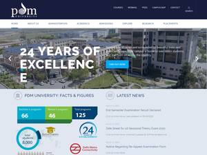 PDM University's Website Screenshot