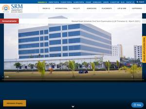 SRM University Haryana's Website Screenshot