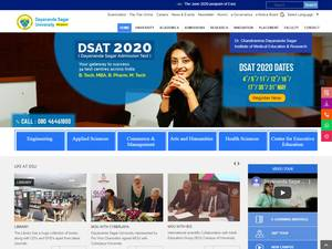 Dayananda Sagar University's Website Screenshot