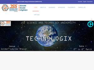JSS Science and Technology University's Website Screenshot