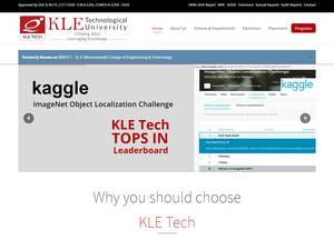 KLE Technological University's Website Screenshot