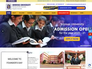 Srinivas University's Website Screenshot