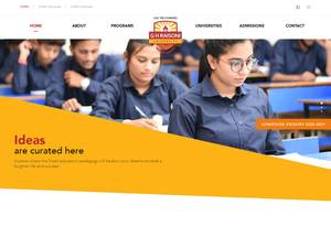G H Raisoni University's Website Screenshot