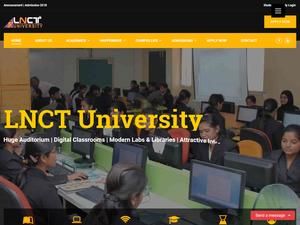 LNCT University's Website Screenshot