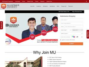 Mandsaur University's Website Screenshot