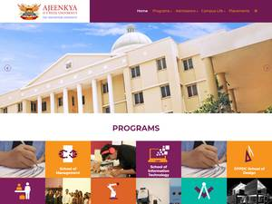 Ajeenkya D.Y. Patil University's Website Screenshot