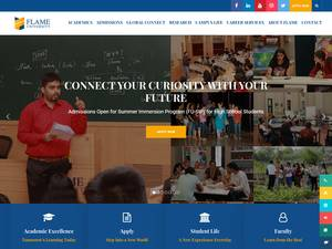 Flame University's Website Screenshot