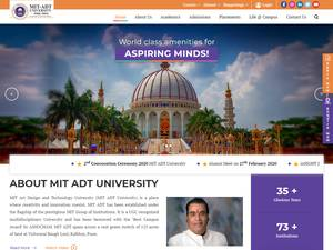 MIT Art Design and Technology University's Website Screenshot