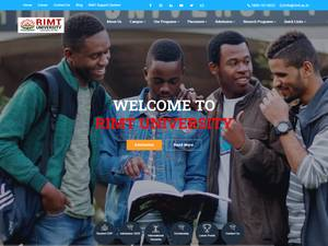 RIMT University's Website Screenshot