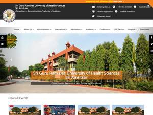 Sri Guru Ram Das University of Health Sciences's Website Screenshot
